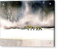 The Cold Walk Acrylic Print by Paul Sachtleben