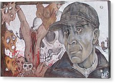 The Cold World Of Ed Gein Acrylic Print by Sam Hane