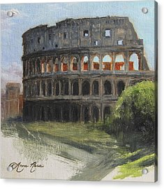 The Coliseum Rome Acrylic Print by Anna Rose Bain