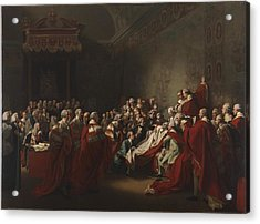 The Collapse Of The Earl Of Chatham In The House Acrylic Print