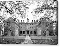 The College Of William And Mary Wren Building Courtyard Acrylic Print