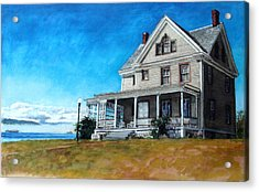 The Colonel's House Acrylic Print by Perry Woodfin