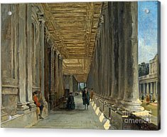 The Colonnade Of Queen Mary Acrylic Print by MotionAge Designs