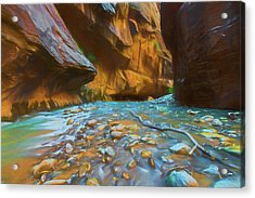 The Color Of Water Acrylic Print