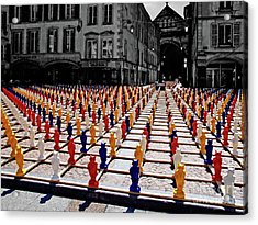 The Colored City Army Acrylic Print