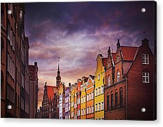 The Colorful Architecture Of Gdansk Acrylic Print