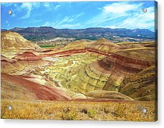 The Colorful Painted Hills In Eastern Oregon Acrylic Print