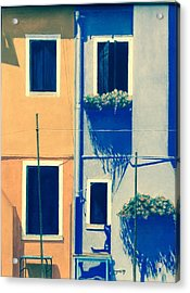 The Colors Of Burano Acrylic Print by Harvey Rogosin