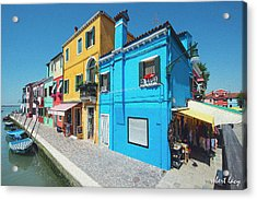 The Colors Of Burano Acrylic Print by Robert Lacy