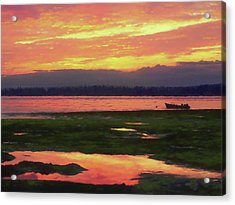 The Colors Of Ship Creek Acrylic Print