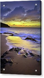 Acrylic Print featuring the photograph The Colour Of Molokai Nights by Tara Turner