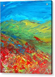 The Colour Of Summer Acrylic Print by Elizabeth Kendall