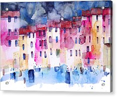 The Coloured Houses Of Portofino Acrylic Print by Alessandro Andreuccetti