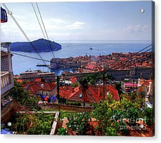 The Colourful City Of Dubrovnik Acrylic Print