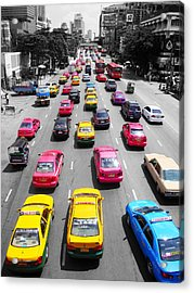 The Colours Of Bangkok Acrylic Print by Kelly Jones