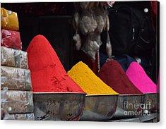 The Colours Of Holi Acrylic Print by Mini Arora