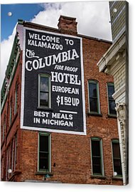 The Columbia Hotel Building Acrylic Print