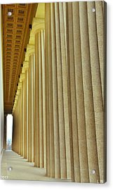 The Columns At The Parthenon In Nashville Tennessee Acrylic Print by Lisa Wooten