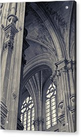 The Columns Of Saint-eustache, Paris, France. Acrylic Print