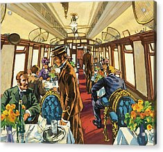 The Comfort Of The Pullman Coach Of A Victorian Passenger Train Acrylic Print by Harry Green