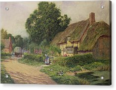 The Coming Of The Haycart  Acrylic Print by Arthur Claude Strachan