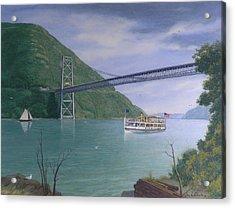 The Commander At Bear Mt. Bridge  Acrylic Print by Glen Heberling