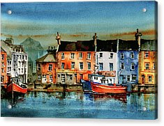 The Commercial Docks, Galway Citie Acrylic Print