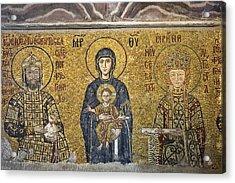 The Comnenus Mosaics In Hagia Sophia Acrylic Print
