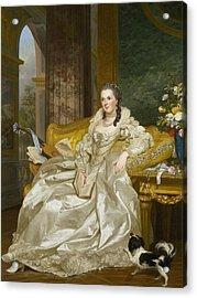 The Comtesse D'egmont Pignatelli In Spanish Costume Acrylic Print by Alexander Roslin