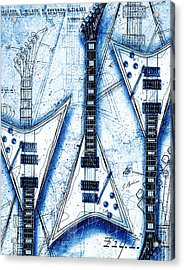 The Concorde Blueprint Acrylic Print by Gary Bodnar