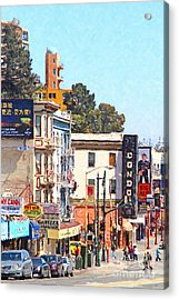 The Condor On Broadway And Columbus Street In San Francisco Acrylic Print