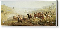 The Conquest Of The Prairie Acrylic Print by Irving R Bacon