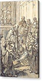 The Consecration Of Saint Juliana Falconieri Acrylic Print