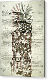 The Constitution Of The United States Of America Acrylic Print by Dan Sproul