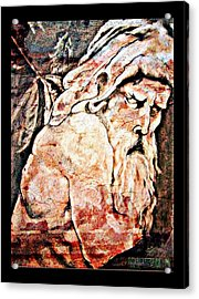 The Contemplation Of Zeus Acrylic Print by Cammra Garza