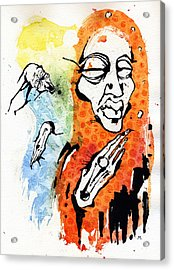 The Conversation Acrylic Print by Mark M  Mellon