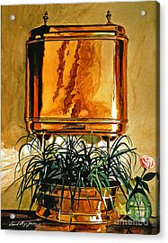 The Copper Lavabo Acrylic Print by David Lloyd Glover