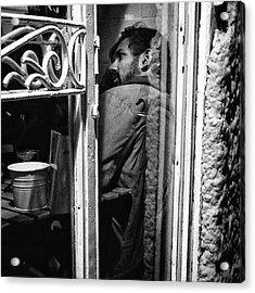 The Corner Man  #portrait #people Acrylic Print by Rafa Rivas