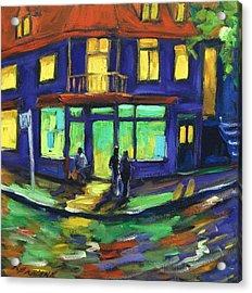 The Corner Store Acrylic Print by Richard T Pranke