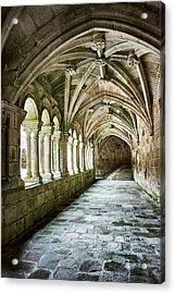 Acrylic Print featuring the photograph The Corridors Of The Monastery by Eduardo Jose Accorinti