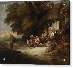 The Cottage Door Acrylic Print by Thomas Gainsborough