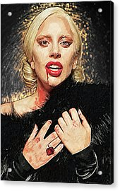 Acrylic Print featuring the digital art The Countess - American Horror Story by Taylan Apukovska