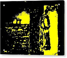 The Couple A'la Klimt Acrylic Print by Teo Spiller