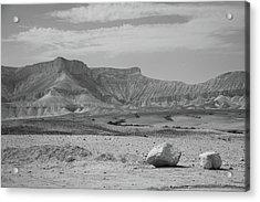 the couple of stones in the desert II Acrylic Print by Yoel Koskas