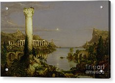 The Course Of Empire - Desolation Acrylic Print by Thomas Cole