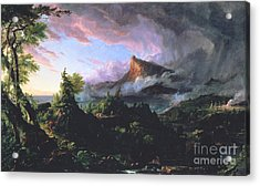 The Course Of Empire - The Savage State Acrylic Print by Thomas Cole