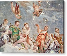 The Court Of Love  Acrylic Print by Veronese