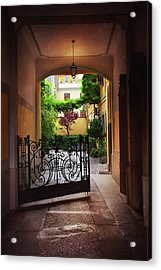 The Courtyard Gate Acrylic Print
