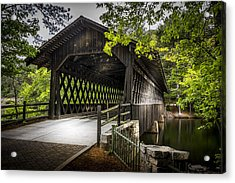 The Coverd Bridge Acrylic Print by Marvin Spates