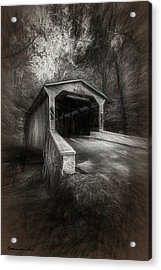 The Covered Bridge Acrylic Print by Marvin Spates